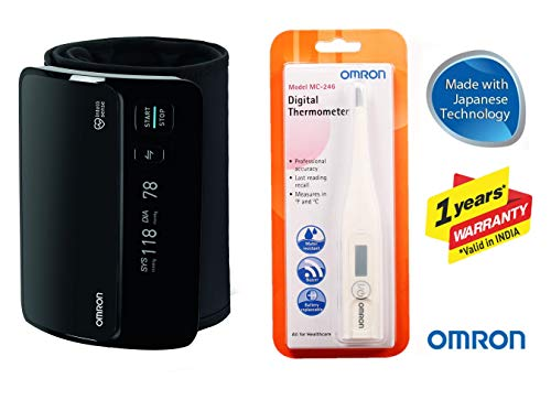 Omron Smart Elite+ HEM 7600T Tubeless 360° Accurate Digital Blood Pressure Monitor With...