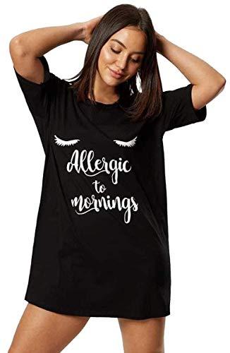 Ex Ann Summers - Camiseta de manga corta para mujer, color negro Negro Negro ( M