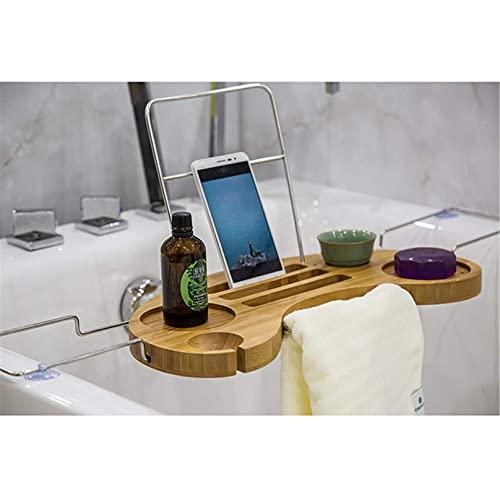 RONGJJ Bandeja De Baño Retráctil Multifuncional para Bañera con Lados Extensibles para La Mayoría De Los Baños 75x16x2.6cm, Picture Color, 75x16x2.6cm