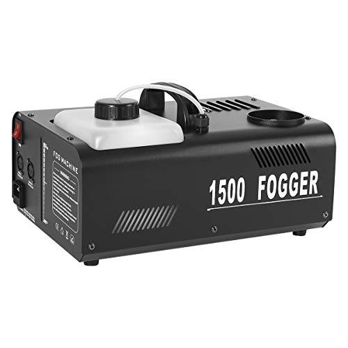 TC-Home 1500W Vertical Stage Fog Smoke Machine 2L Upspray Fogger with Wireless/Wire Remote