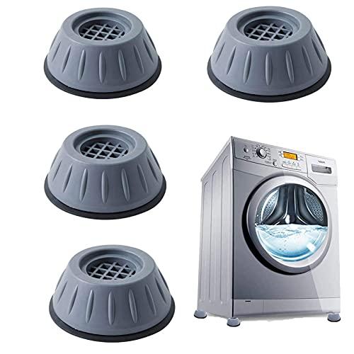 Patins anti-vibrations caoutchouc antidérapant, 4 Pièces Tampons À Pied Machine À Laver Anti Vibration Tampon, pieds de machine à laver,universel pour lave-linge et sèche-linge.