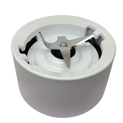KitchenAid Neue style Blender Vorratsdose Standfuß / Kragen mit Klingen Weiss (passt in neuere KSB555 Modellen kompatibel)