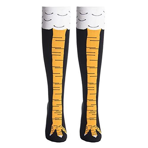 BESPORTBLE Household1 Paar Knie Socken Damen Lustige Hühnerbeine Socken Baumwolle Athletische Kniesocken