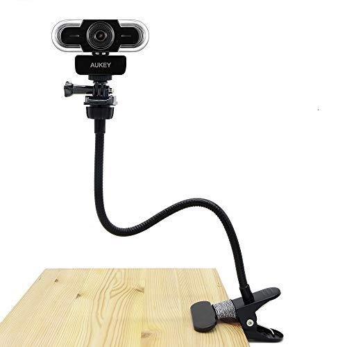 Webcam Clip, flexibler Ständer für Aukey Webcam 2K HD, 1080P mit Autofokus (1/4 Zoll Gewinde)