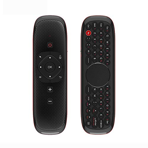 Nrpfell W2 Fly Mouse Control Remoto 2.4G Air Mouse Teclado Presspad + FuncióN de Voz para Android TV Box Smart TV