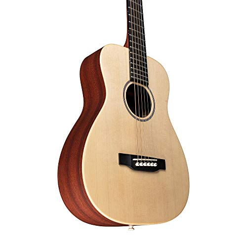 Little Martin LX1E Acoustic-Electric Guitar with Gig Bag, Sitka Spruce Top, Mahogany HPL Construction, Modified 0-14 Fret, Modified Low Oval Neck Shape