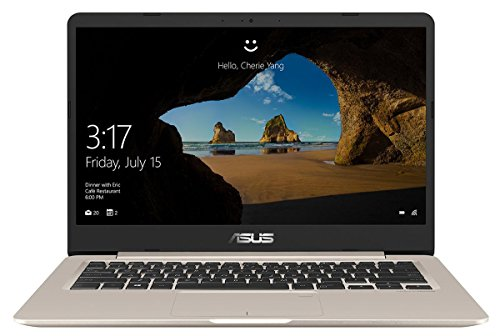 Asus VivoBook S14 S406UA 90NB0FX1-M01300 35,6 cm (14 Zoll Full-HD matt) Notebook (Intel Core i7-8550U, 16GB RAM, 256GB SSD, Intel UHD Graphics, Windows 10) gold metall