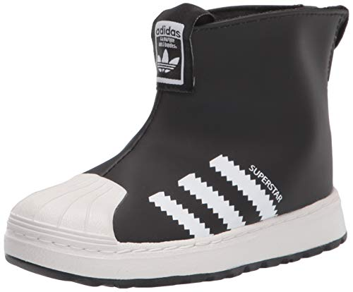 adidas Originals Kids Superstar 360 Boots Sneaker, Black/White/Crystal White, 7 US Unisex Toddler