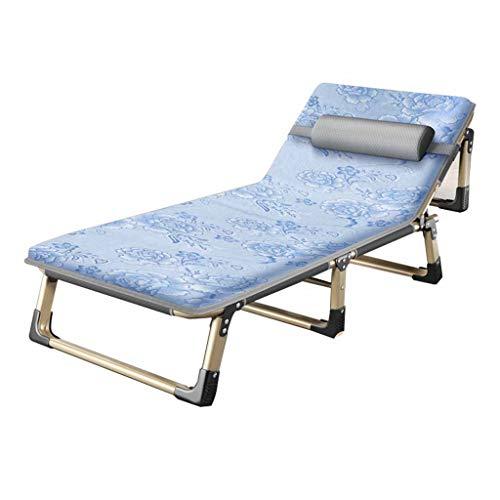 Lit pliant Lits de Camp et hamacs Camp Pliable Chaise Longue Bureau Lit D'accompagnement D'hôpital Capacité De Charge 300 Kg + Matelas Mobilier de Camping