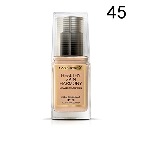 2 x Max Factor Healthy Skin Harmony Miracle Foundation - 45 Warm Almond