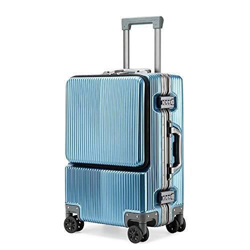 XIEPEI Handgepäckbox 55cm PC Aluminiumrahmen 60cm Fahrgestell Eisblau 60cm