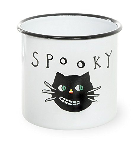 Boston International All Saints' Eve Enamel Canister, 5 x 4.75-Inches, Spooky