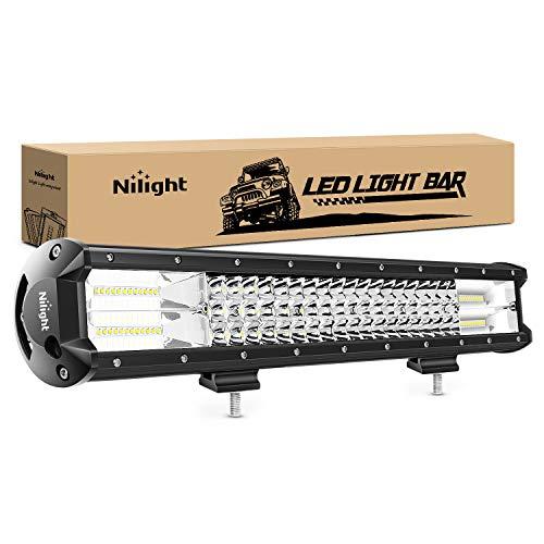 Nilight - 18004C-A LED Light Bar 20Inch 288w Triple Row Flood Spot Combo 28800LM Led Bar Driving Lights Boat Lights Led Off Road Lights for Trucks, 2 Years Warranty