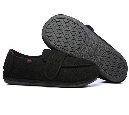 B/H Zapatillas De RecuperacióN para DiabéTicos,Zapatos de Primavera y otoño con pies hinchados, pies gordos y Zapatos de Hallux valgus-47.5_B,Calzado Interior Antideslizante para DiabéTicos 🔥