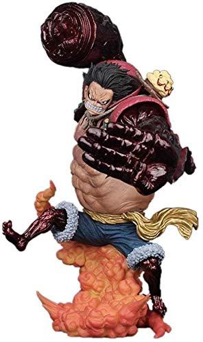 LiLiG Monkey One Piece.D.Luffy Gear 4 Kong Gun-Crimson ToyStatue Decoración, Negro/Azul - 9.4
