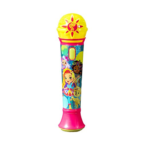 Sunny Day Sing Along Pretend Microphone Sing to Built in Music or Connect Your Device and Sing To Whatever You Like