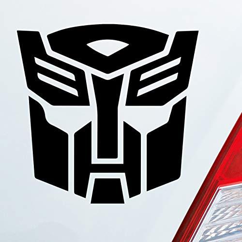 Auto Aufkleber in deiner Wunschfarbe für Transformers Fans Comic Movie 10x10cm Autoaufkleber Sticker Folie