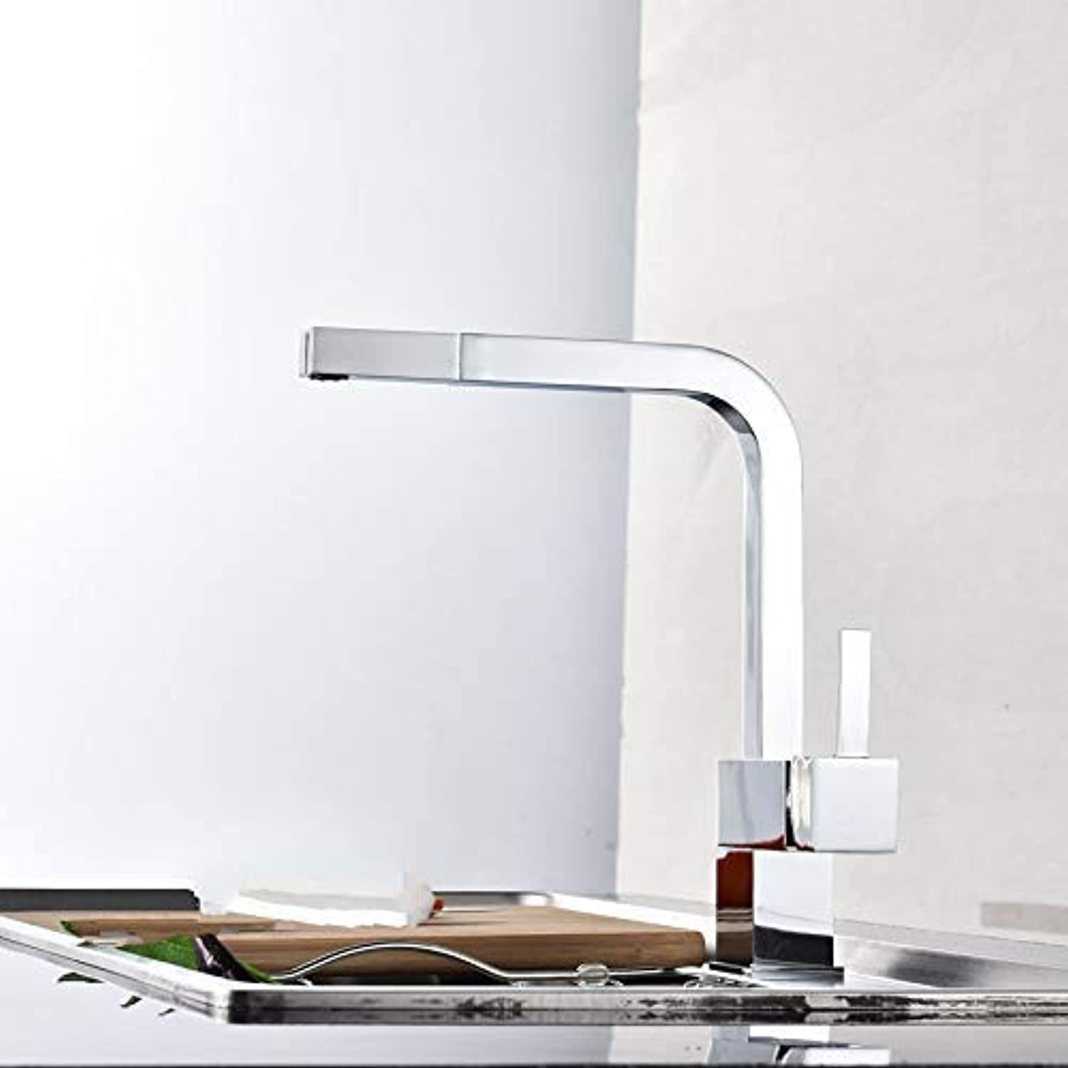 XINXI HOME Kitchen sink full copper pull hot and cold dishes kitchen faucet redatable sink faucet mixing valve faucet