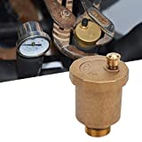 Automatic Air Vent Valve, G1/2' Male Thread Air Vent Exhaust Valve, Brass Automatic One Way Air Vent Valve, Brass, Corrosion Resistant, Durable