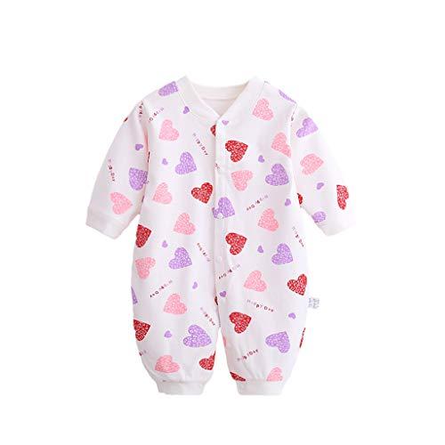 PROTAURI Bebé Mono Mameluco - Niños Niñas Algodón Manga Larga Pijamas Una Pieza Mono Trajes para 0-12 Meses