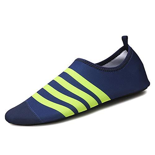 Zwemschoenen, blote voet, zachte schoenen, antislip, loopband, schoenen, voor mannen en vrouwen 47-48 blauw