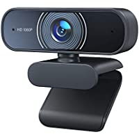 RALENO 1080P Desktop Webcam with Dual Built-In Microphones
