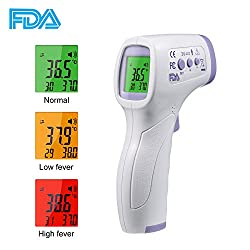 Infrared Digital Thermometer, Non-Contact Laser Thermometer Forehead Thermometer, Scanner Instant Reading for Baby, Kids, and Adults