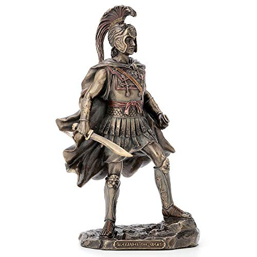 Veronese Design 9.75 Inch Alexander The Great Greek Roman Warrior Historical Antique Bronze Finish Statue Figurine Sculpture