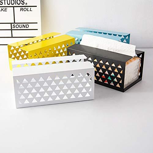 Funie Papierserviettenhalter, kreatives Eisen, hohl, für Papierservietten, Tischdekoration, Gelb L blau