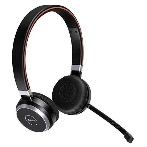 Jabra Evolve 65 MS Wireless Headset, Stereo  Includes Link 370 USB Adapter  Bluetooth Headset with Industry-Leading Wireless Performance, Advanced Noise-Cancelling Microphone, All Day Battery
