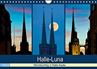 Halle-Luna - Mondsuechtig in Halle-Saale (Wandkalender 2022 DIN A4 quer): Halle-Saale im Bann des Mondes (Monatskalender, 14 Seiten )