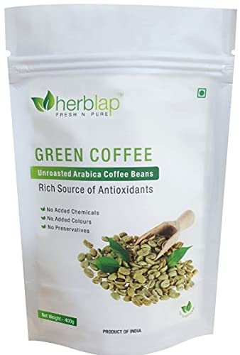 HERBLAP Green Coffee Beans Your Natural Immunity Booster and Weight Loss Partner: 400 G