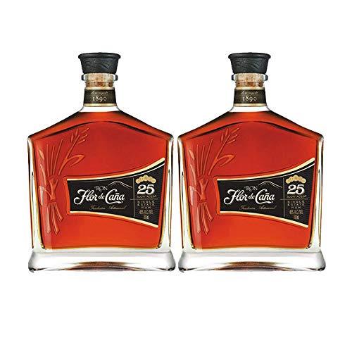 Ron Flor de Caña Centenario 25 años de 70 cl - D.O. Nicaragua - Bodegas Osborne (Pack de 2 botellas)