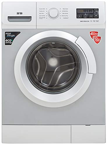 IFB 6 Kg 5 Star Fully-Automatic Front Loading Washing Machine (NEODIVA-SX, Silver, Inbuilt Heater)