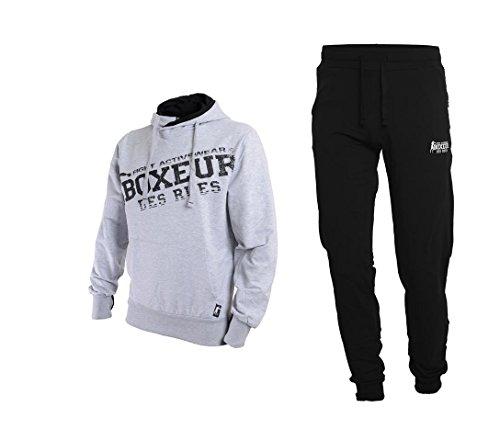 BOXEUR DES RUES Fight Activewear, Completo Tuta da Uomo, Grey Mel, L