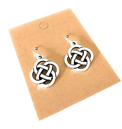 Celtic Knots on Sterling Silver Earrings