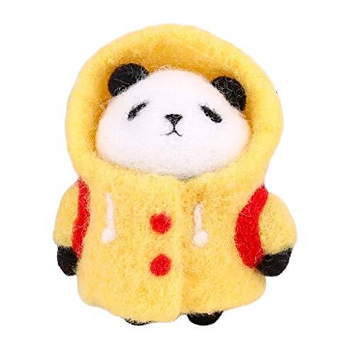 Sharplace 3D Panda Needle Felting Animal Kit - Student Panda, 3x7cm