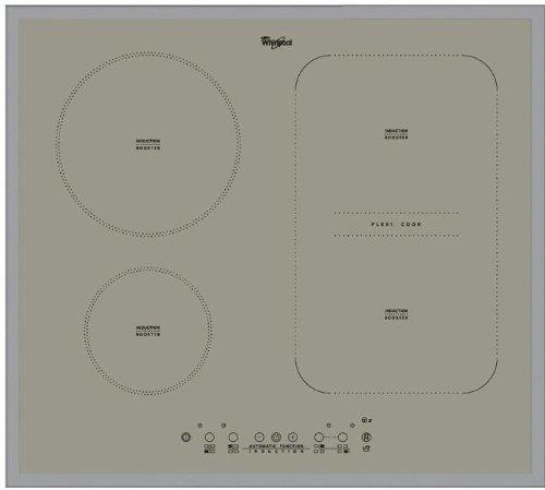 Whirlpool ACM808BAS ACM 808/BA/S Kochfeld, Glas, Grau