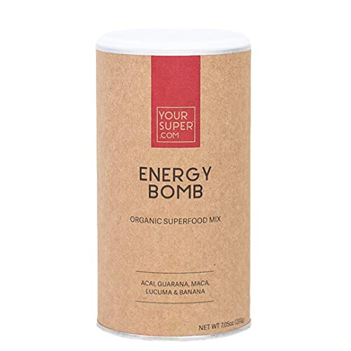 Your Super Energy Bomb Superfood Mix - Plant-Based Energizing Powder, Coffee and Energy Drink Replacement, Essential Vitamins & Minerals, Non-GMO, Organic Acai Berry - 7.05 Ounces, 40 Servings