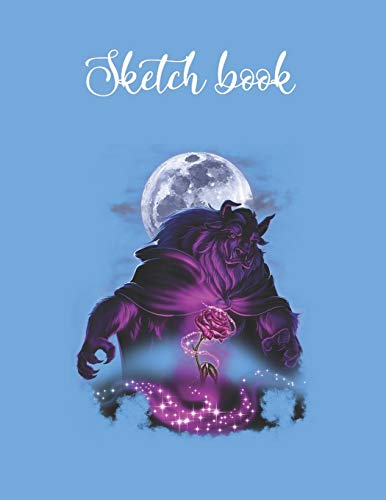 Composition Book: Disney Beauty The Beast Moon Rose Airbrush Art Lovely Composition Notes Notebook for Work Marble Size College Rule Lined for Student ... Way to Use Method Note Taking System