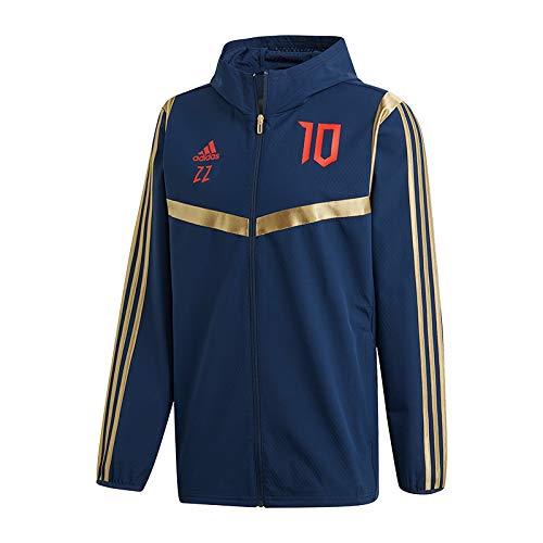 Adidas, giacca sportiva Predator Zinedine Zidane con cappuccio, blu DZ7312 657917, Blu, L da Uomo