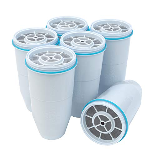 ZeroWater Replacement Filters 6-Pack BPA-Free Replacement Water Filters for ZeroWater Pitchers and Dispensers NSF Certified to Reduce Lead and Other Heavy Metals