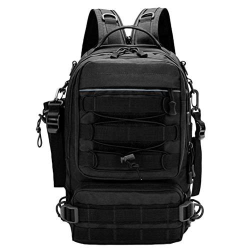 フィッシングバッグ 釣りバッグ ルアー 4way 斜め掛けバッグ バックパック 手提げ リュックサック ボディバッグ 大容量 耐摩耗性 ボルトポケット付き 多機能 アウトドア ブラック