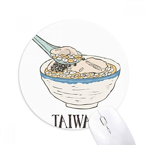 DIYthinker koude drank ijs voedsel Taiwan ronde anti-slip rubber muismat spel office muismat cadeau