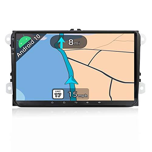 JOYX Android 10 Autoradio Compatible Golf/Skoda/Seat/Polo - 2G RAM - 2 DIN | Cámara Trasera Canbus Gratis| 9 Pulgada - Soporte Dab Volante 4G WiFi Bluetooth5.0 MirrorLink Google Carplay Android Auto