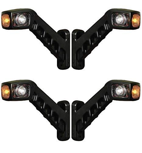 4 X luces LED de posicion lateral de 12V 24V para camiones, remolques, semirremolques, tractores, etc, rojo y amarillo y blanco