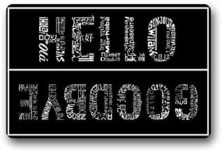 ZMvise Rubber Doormat Custom Washable Door Mat Hello and Goodbye Indoor Outdoor 18 x 30 inch