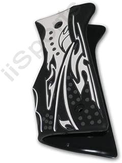 3D Paintball Gun Textured Rubber Wrap Around 45 Grips BLACK WHITE Tippmann 98 Spyder JT