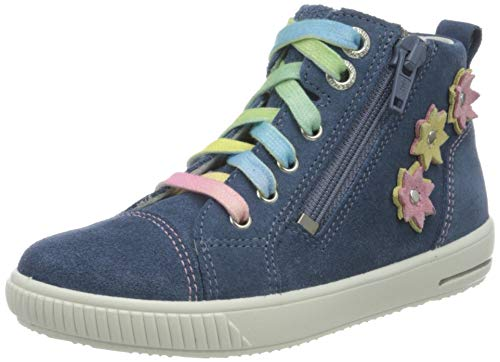 Superfit Baby-Mädchen Moppy Sneaker, BLAU/ROSA, 24 EU