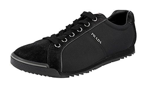 Prada Herren Schwarz Leder Sneaker 4E2719 46 EU/UK 12